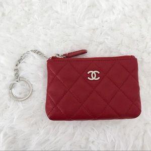authentic chanel key holder case